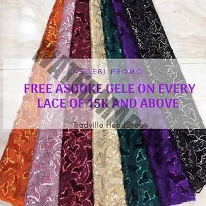 ASO EBI PROMO: Free Aso Oke Gele on Every Purchase of Ankara and Lace