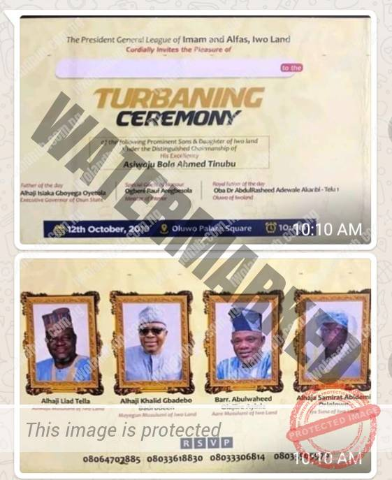 Senator Oriolowo's Mother, Alhaji Liad Tella, Alhaji Debo Badru, others to be Conferred Islamic Titles