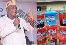 COVID-19: Iwo Residents Slam Sen Oriolowo for Distributing Sanitizer Instead of Food and Relief Materials