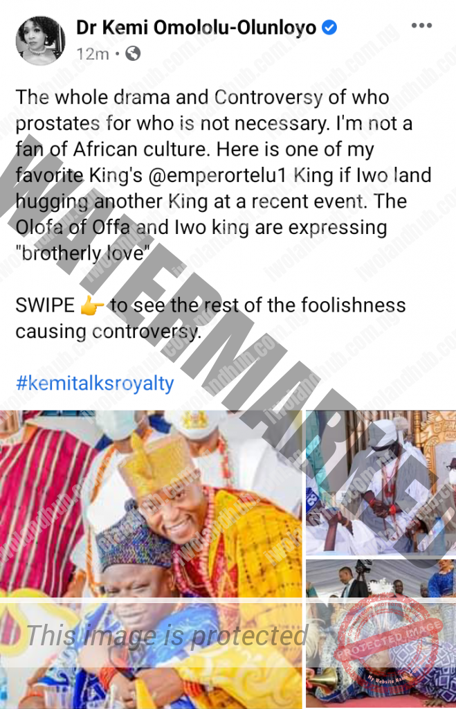 Yoruba Culture: Oluwo is one of my Favourite Kings - Dr. Kemi Olunloyo