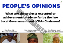 Current Iwo Local Government Chairmen; The Worst in 3 Decades | By 'Tunde Badru' Afrika II
