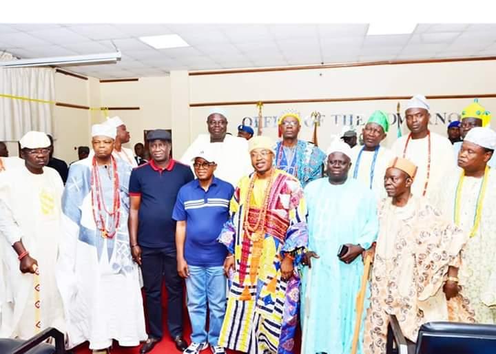 Oluwo and Obas Visit Oyetola