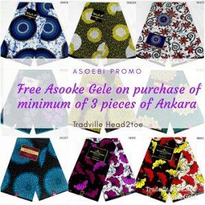 ASO EBI PROMO: Free Aso Oke Gele on Every Purchase of Ankara and Lace