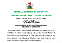 We Only Approve Iwo for Federal College of Education in Osun - Ministry Clears the Air