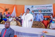 Commissioning of a Symbolic Mosque with a Symbolic Lie of Governor Oyetola
