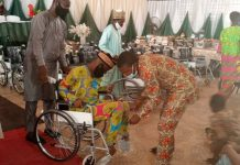 CYFNBI Empowered 35 with Working Tools, 20 Handicaps Get Wheel Chairs