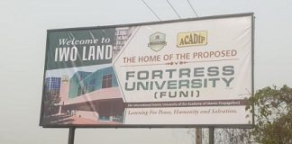 Date Revealed for the Foundation Laying Ceremony of Fortress University, Iwo